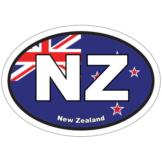 New Zealand Nz Flag Oval Sticker