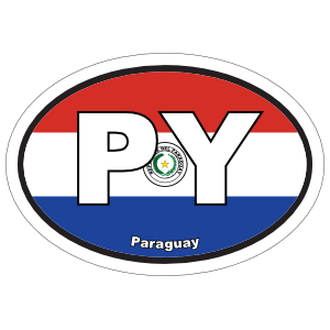 Paraguay Py Flag Oval Magnet