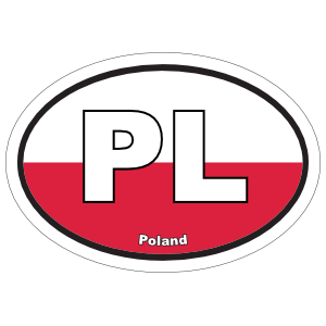 Poland Pl Flag Oval Sticker
