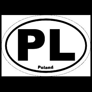Poland Pl Oval Sticker