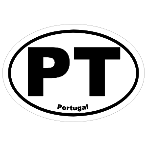 Portugal Pt Oval Sticker