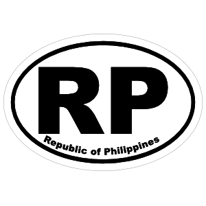 Republic Of Philippines Rp Oval Magnet