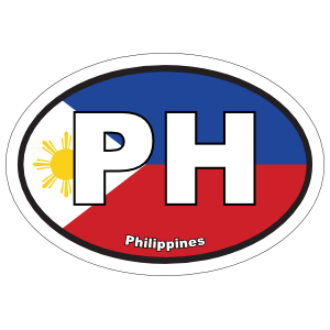 Philippines Ph Flag Oval Magnet