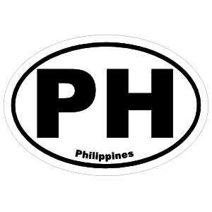 Philippines Ph Oval Magnet