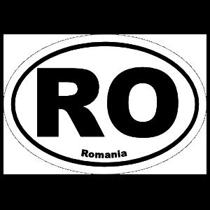 Romania Ro Oval Sticker