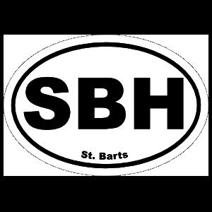 St. Barts Sbh Oval Magnet