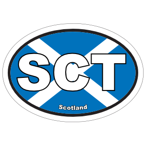 Scotland Sct Flag Oval Sticker