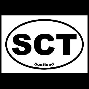 Scotland Sct Oval Magnet