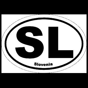 Slovenia Sl Oval Magnet