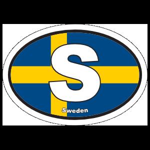 Sweden S Flag Oval Sticker