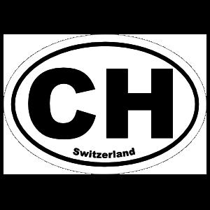 Switzerland Ch Oval Sticker