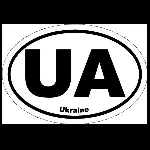 Ukraine Ua Oval Sticker
