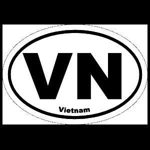Vietnam Vn Oval Magnet
