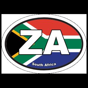 South Africa Za Flag Oval Magnet