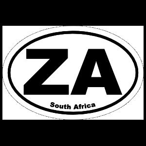 South Africa Za Oval Magnet