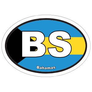 Bahamas Bs Flag Oval Magnet