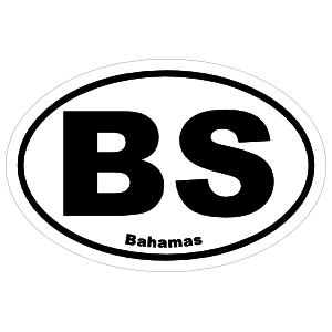 Bahamas Bs Oval Magnet