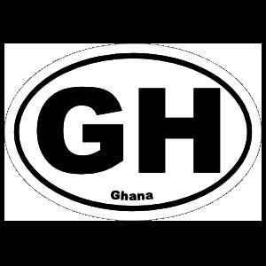 Ghana Gh Oval Magnet
