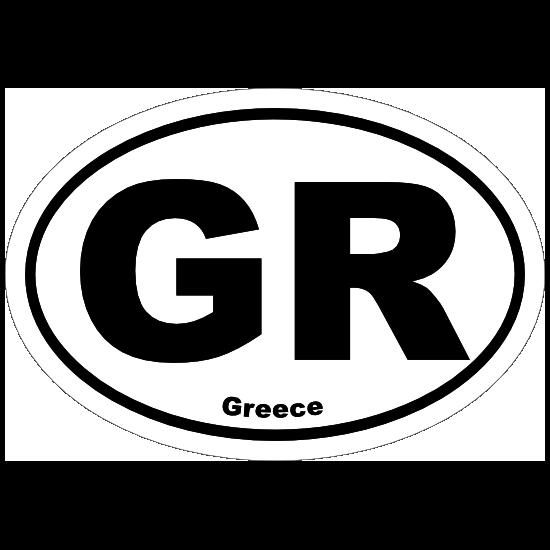 Greece Gr Oval Sticker