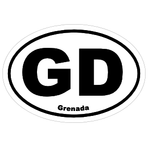 Grenada Gd Oval Sticker