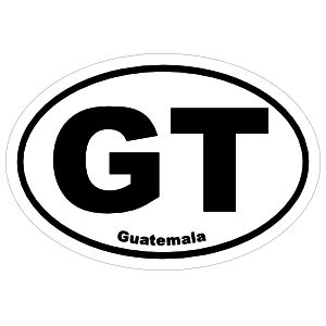Guatemala Gt Oval Magnet