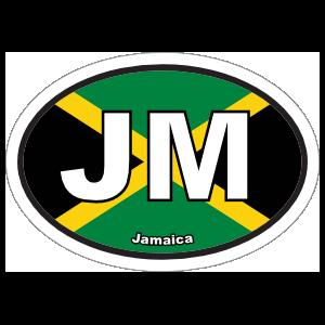 Jamaica Jm Flag Oval Magnet