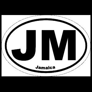 Jamaica Jm Oval Sticker