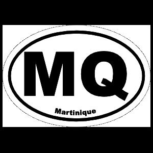 Martinique Mq Oval Sticker