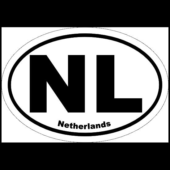 Netherlands Nl Oval Sticker