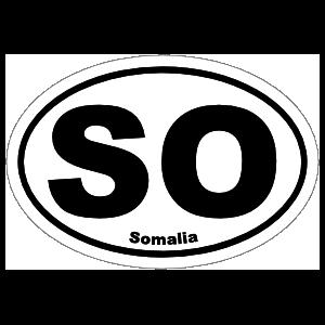 Somalia So Oval Magnet