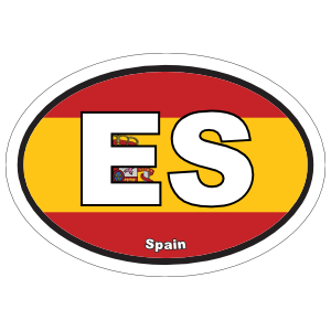 Spain Es Flag Oval Sticker
