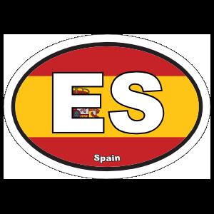 Spain Es Flag Oval Magnet