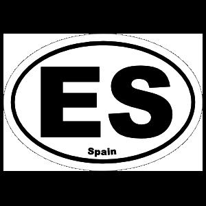 Spain Es Oval Magnet