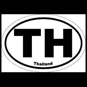 Thailand Th Oval Sticker