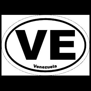 Venezuela Ve Oval Magnet