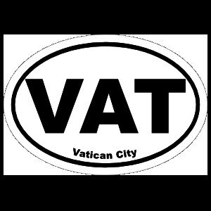 Vatican City Vat Oval Magnet