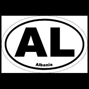 Albania Al Oval Sticker