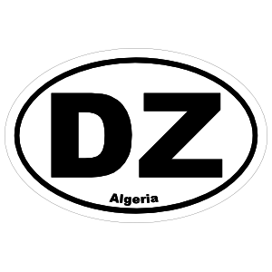 Algeria Dz Oval Sticker