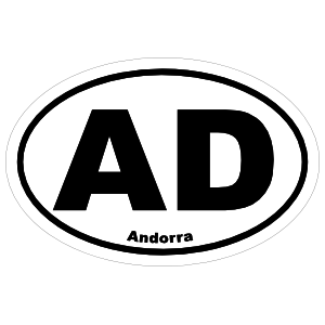Andorra Ad Oval Sticker