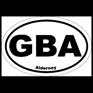 Alderney Gba Oval Sticker