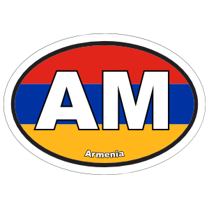 Armenia Am Flag Oval Magnet