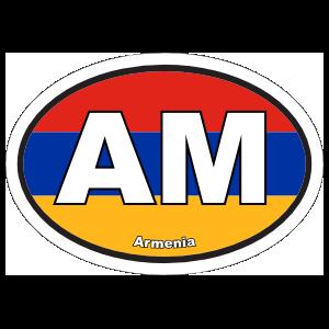 Armenia Am Flag Oval Sticker