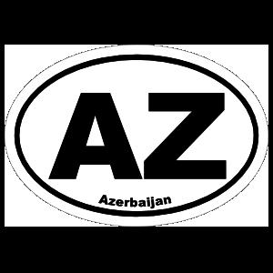 Azerbaijan Az Oval Sticker