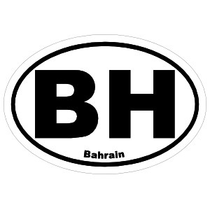 Bahrain Bh Oval Sticker