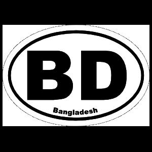 Bangladesh Bd Oval Sticker