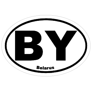 Belarus By Oval Magnet