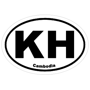 Cambodia Kh Oval Magnet