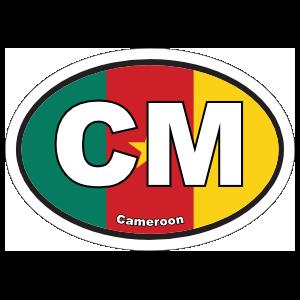 Cameroon Cm Flag Oval Magnet