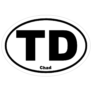 Chad Td Oval Magnet