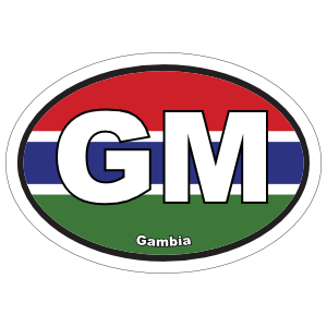 Gambia Gm Flag Oval Magnet